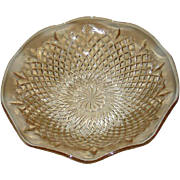 Sowerby, Light Amber, Diamond Pinwheel, Large Bowl