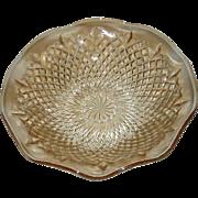 Sowerby, Light Amber, Diamond Pinwheel, Large Bowl