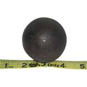 "Small, Civil War, 2"" Cannon Ball"