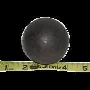 """Small, Civil War, 2"""" Cannon Ball"""