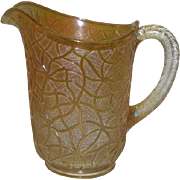 Imperial, Marigold, Soda Gold, Carnival Glass Water Pitcher