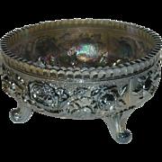 Imperial, Powder Blue, Lustre Rose, Carnival Glass Fernery Bowl