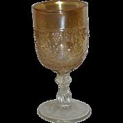 Fenton, Marigold, Wine & Roses, Carnival Glass Wine Goblet