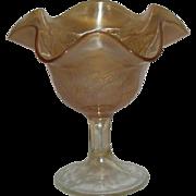 Fenton, Marigold, Peacock @ Urn, Carnival Glass Compote