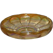 Imperial, Marigold, Wide Panel Carnival Glass Center Bowl