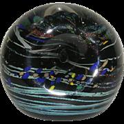 Signed, Hand Blown, Italian Art Glass Paperweight