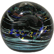 Signed, Hand Blown, Italian Art Glass Paperweight