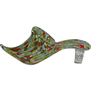 Italian Art Glass, Multi-Colored Slipper