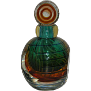 Hand Blown, Italian Art Glass Perfume Bottle