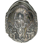 Greek, AG995 Silver, Christ Resurrection Egg
