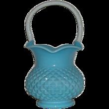 Blue & White, Heavy Diamond, Milkglass Basket