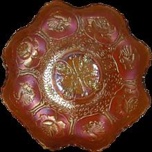 Fenton, Marigold, Dragon & Lotus, Carnival Glass Bowl