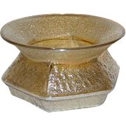Hobnail Soda Gold, Marigold Carnival Glass Spittoon