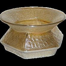 Hobnail Soda Gold, Marigold Carnival Glass Spittoon