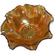 Northwood, Marigold, Flute Variant Carnival Glass Bowl