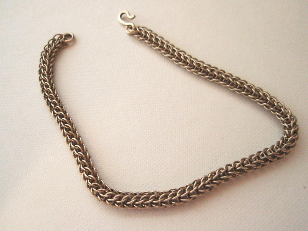 14KT White Gold Filled Persian Link Bracelet