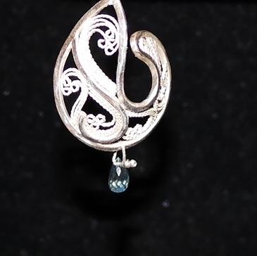Sterling and Fine Silver Filigree Swirl Earrings