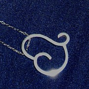 Sterling Silver Floating Heart  - Necklace
