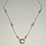 Sterling Silver Fresh Water Coin Pearl  - Necklace
