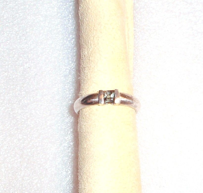 Sterling Silver Channel Set Tourmaline  - Ring