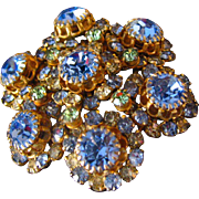 Pretty Multicolor Rhinestone Brooch