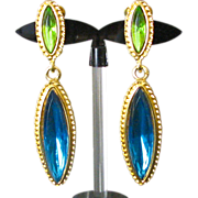 Vintage Signed Vendome Drop Earrings