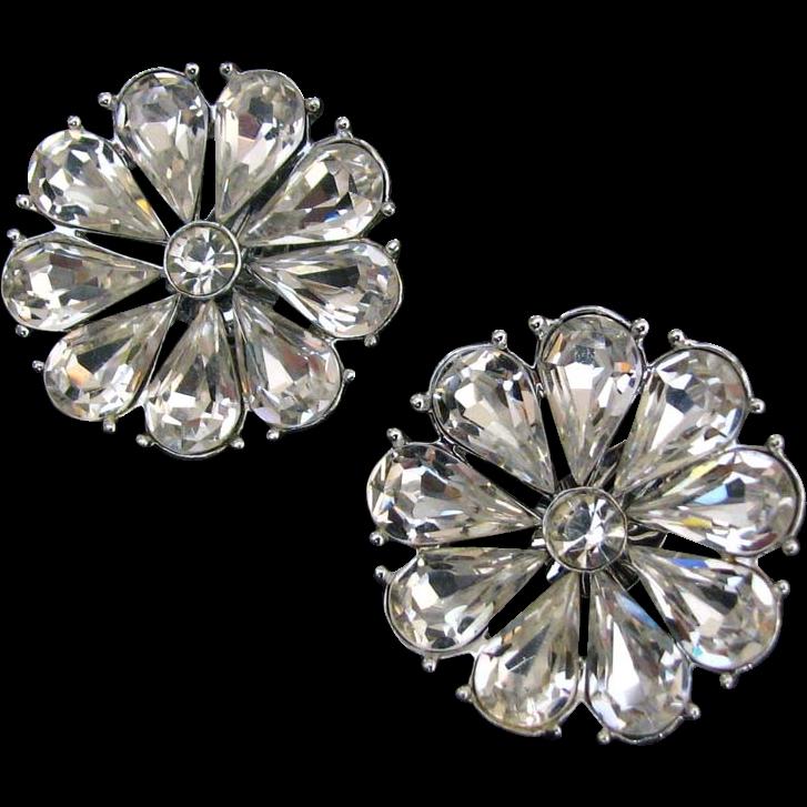 Spectacular Vintage Daisy-like Earrings