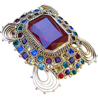 Vintage Large Early Hobe Brooch Pendant