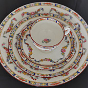 Antique Mintons Rose Pattern Number 4807 Hand Painted Porcelain Dinner Service 86 Pieces