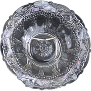 Brilliant Early Pressed Glass Ruffled Bowl