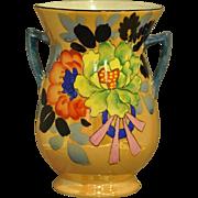 Hand Painted Lusterware Floral Vase Made in Japan