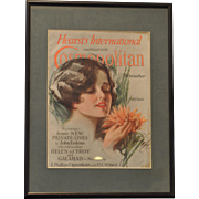 Harrison Fisher Cover 1920's Hearst International Cosmopolitan Complete Magazine Framed