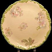 T&V Limoges Charger Serving Plate with Pastel Floral Design