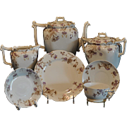 1800's T&V Limoges Hand Painted Tea Set and Dessert/Luncheon for 6