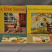 Wonderful Set of Four Children's Books by Westminster Press Dated 1953-54