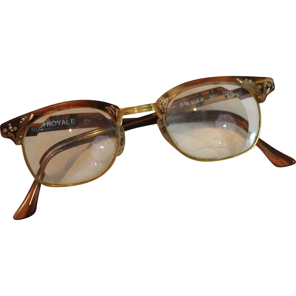 "Vintage Shuron Nusir Royale ""Cat's Eye"" Woman's Eyeglasses"