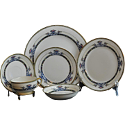 "Vintage 1930's Elegant Set of Noritake ""Daventry"" Pattern #69544 Full Set for Eight with Extra Pieces"