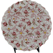 "Copeland Spode Rosebud Chintz Pattern (Pink Vine) 6"" Bread and Butter Plate Made in England"