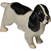 Beswick Black and White Cocker Spaniel Dog Figure England