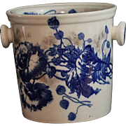 "Flow Blue Master Chamber Pot with Lid ""Harvest"" Pattern S. Hancock & Sons Stoke on Trent Made In England"