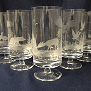 Rowland Ward Footed Wildlife Crystal 20th Century Germany