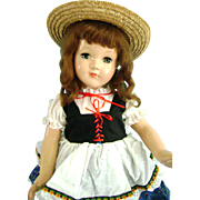 """Vintage 27"""" Effanbee Anne Shirley Green Gables Composition Doll Dewees Cochran"""