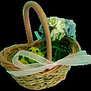 Vintage Doll Basket Ginny Madame Alexander Cissy Elise Miss Revlon German Bisque