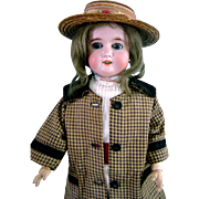 "Antique Vintage German Bisque,Composition,Wood Bergmann Doll 23"" in Orig Clothes"