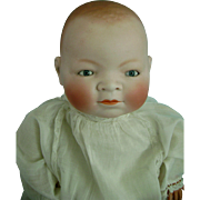 Antique Vintage German Bisque Bye Lo Bye-Lo Baby Doll 20 inches in Orig Clothes