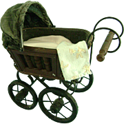 Vintage Baby Doll Carriage Bisque Bye-Lo German French Kestner Compo