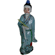 Vintage TALL 14 inch Chinese Porcelain Statue Figure