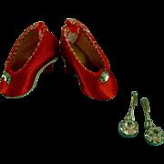 Vintage Original Madame Alexander Cissette Doll Shoes Pumps Jewelry & Flowers