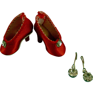 Vintage Original Madame Alexander Cissette Doll Shoes Pumps Jewelry & Flowers