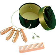 Vintage Madame Alexander Cissy Elise Binnie Doll Hatbox Curlers Comb
